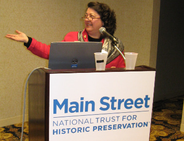Donna Ann Harris Speaking at a conference